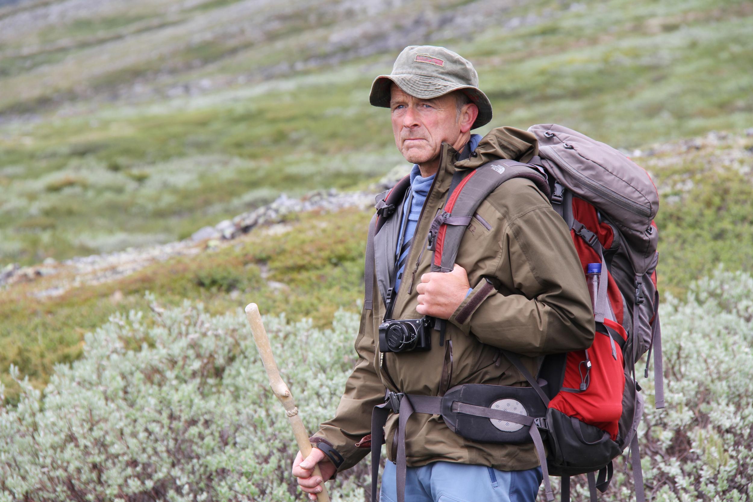 Reidar Marstein - fjellfarar og hobbyarkeolog.