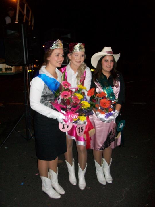 2011 winners - trio in Milva Carucci Designs  Queen - Eliza Michael Princess - Keir Tilse Miss Personality - Rachel Arancio