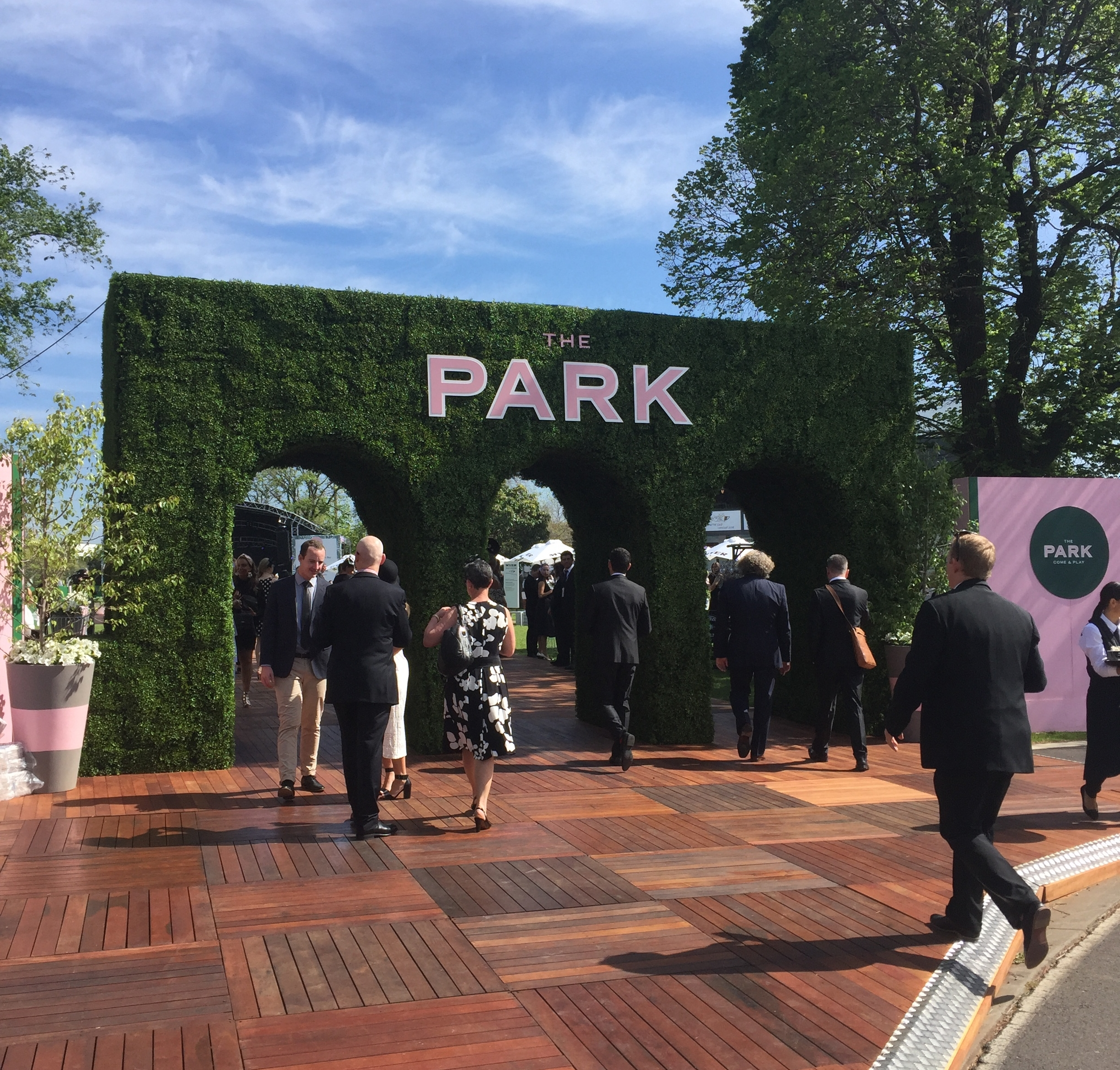 The new and improved 'The Park' where we hung out for the Spring Carnival