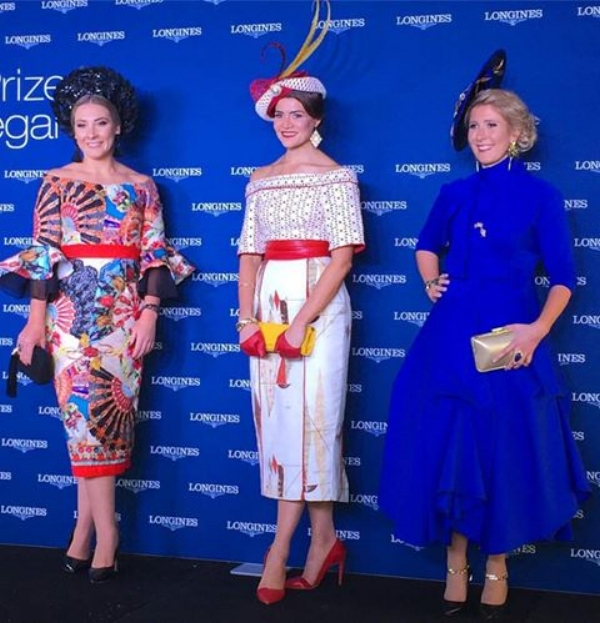 Longines Prize of Elegance Top 3  Middle - Oliviva Moor (winner) Right - Dimity Vanderpot  image: On Track On Trend