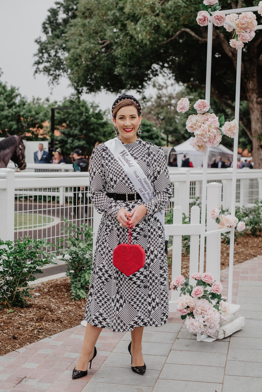 Kerrie Carucci wearing her winning custom Milva Carucci Designs dress  image: Taylor Kezia
