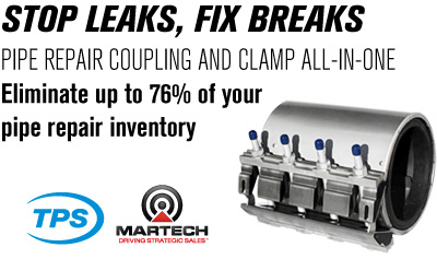 Versa-Max is an all-in-one product that does the job of a pipe coupling and a pipe repair clamp.