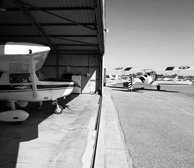 Waiting for take off... . . . #murrayfieldairport #racwa #tarmac #runway #cessna #biplane #hangar #aircraft #airport #wings #aviation #aviators