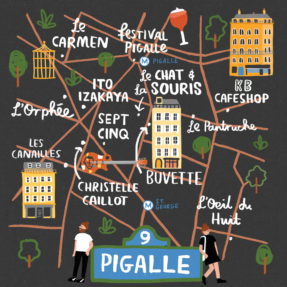 Pigalle, Paris for Cara Magazine.