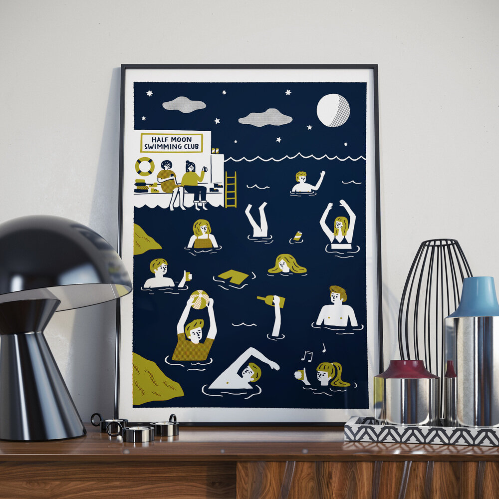 Half Moon Swimming Club • Screen Print •€45