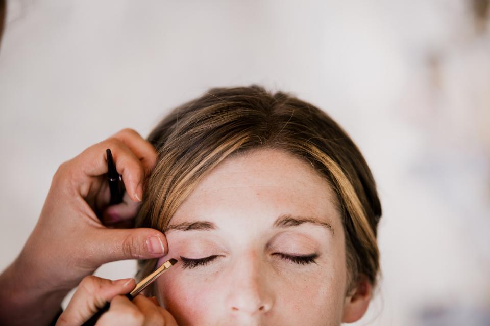 Préparation maquillage mariage