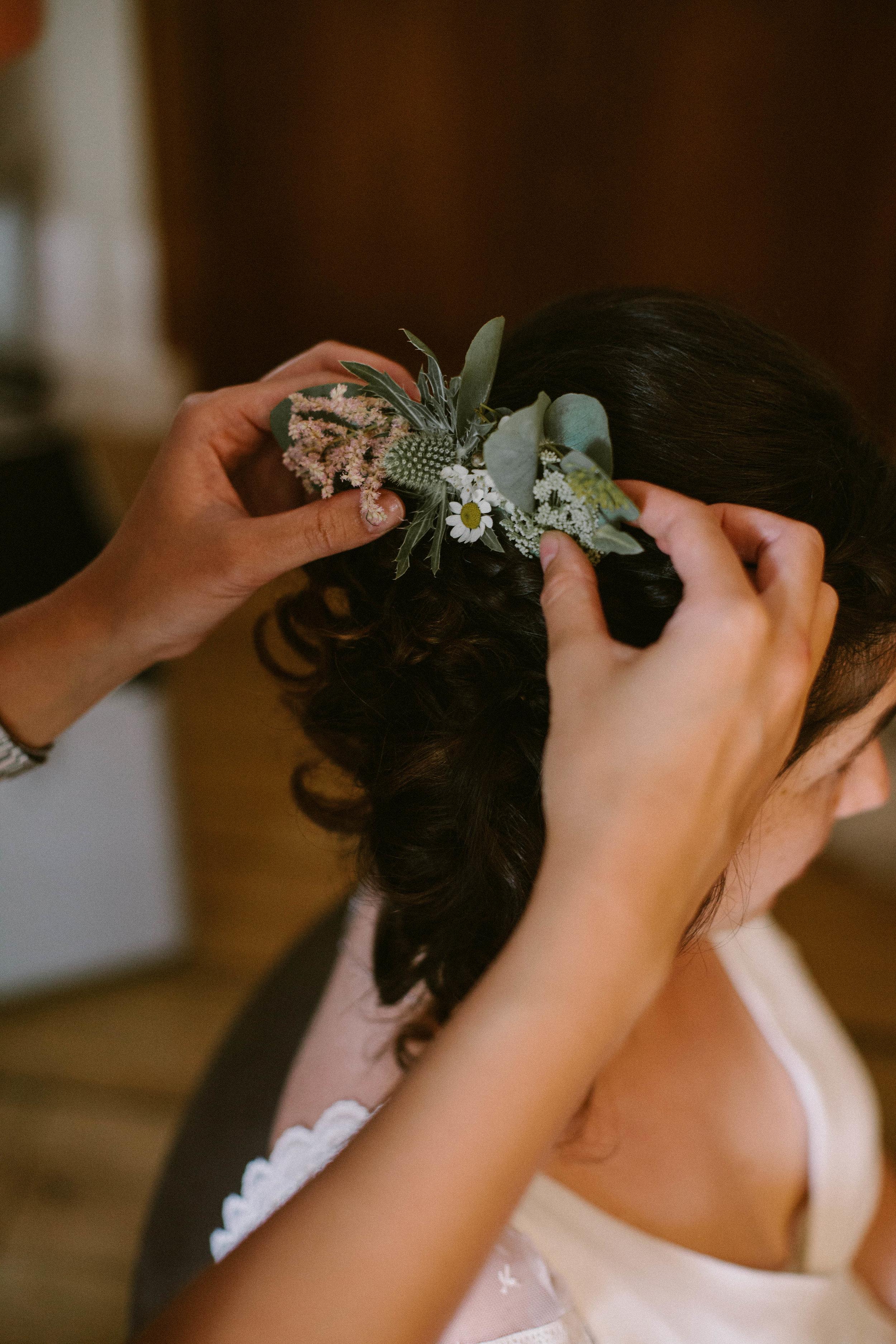 peigne fleuri mariée