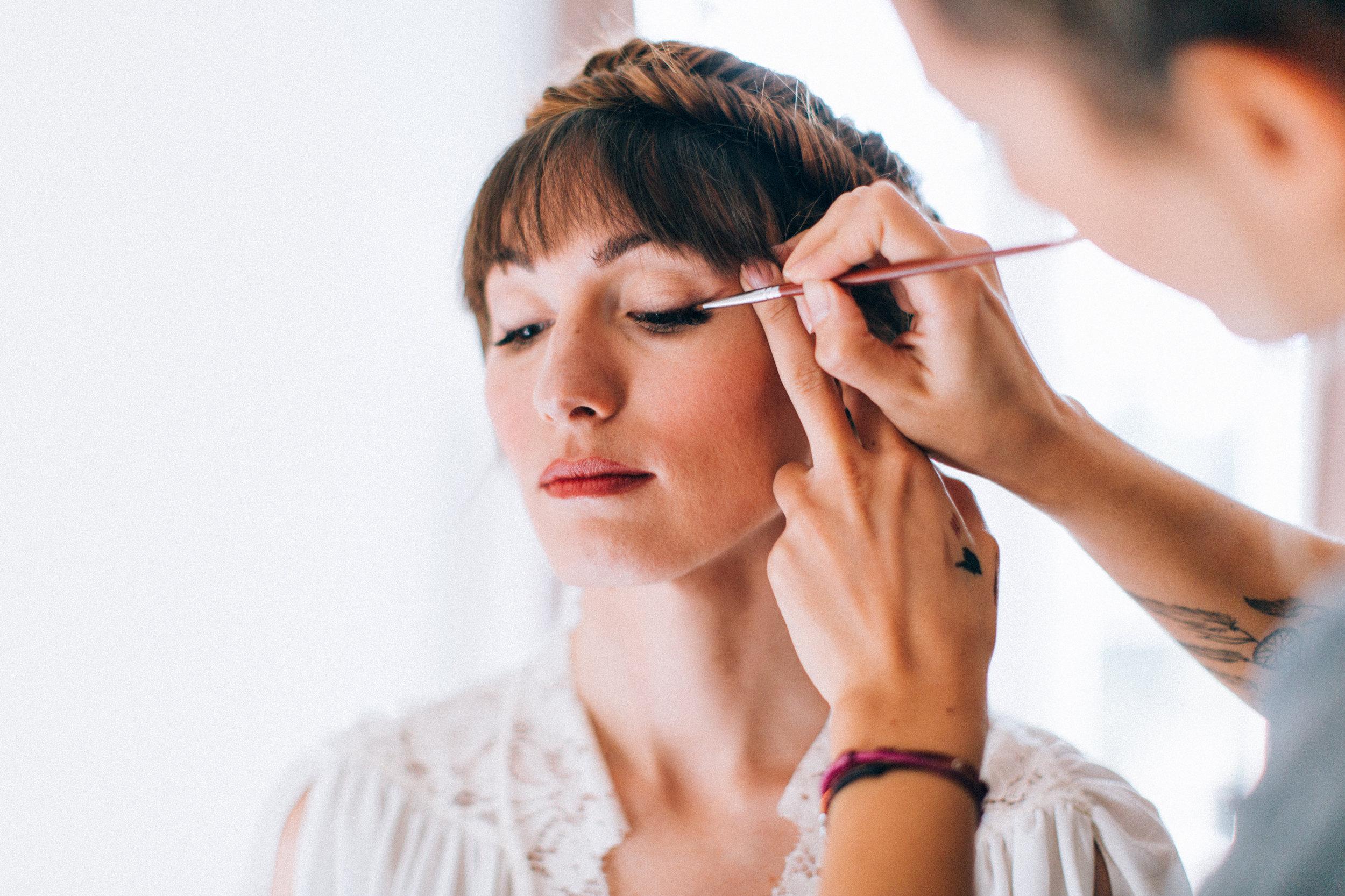Maquillage mariage vintage et bohème