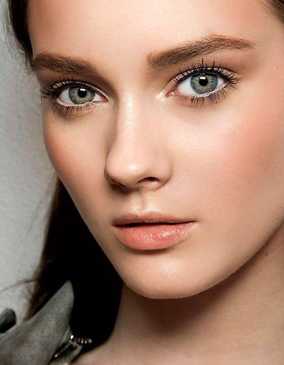 Maquillage naturel orangé