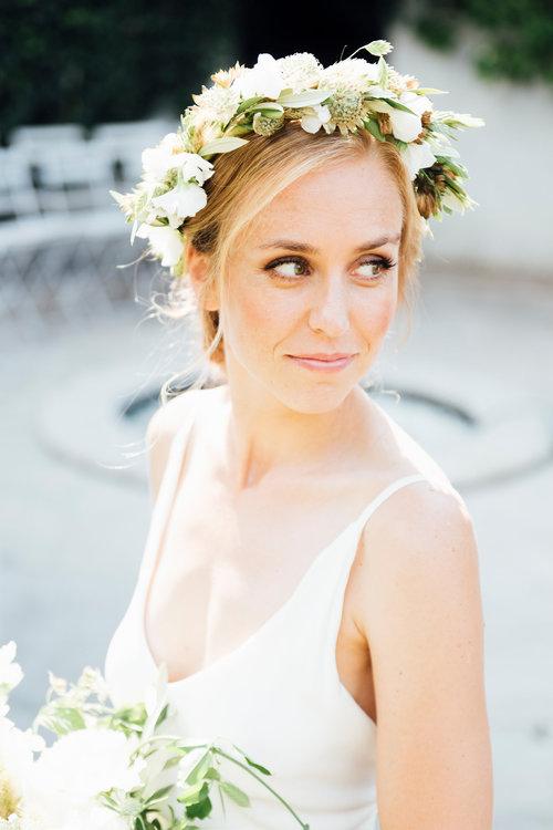 10 inspirations pour des mariées qui se maquillent peu