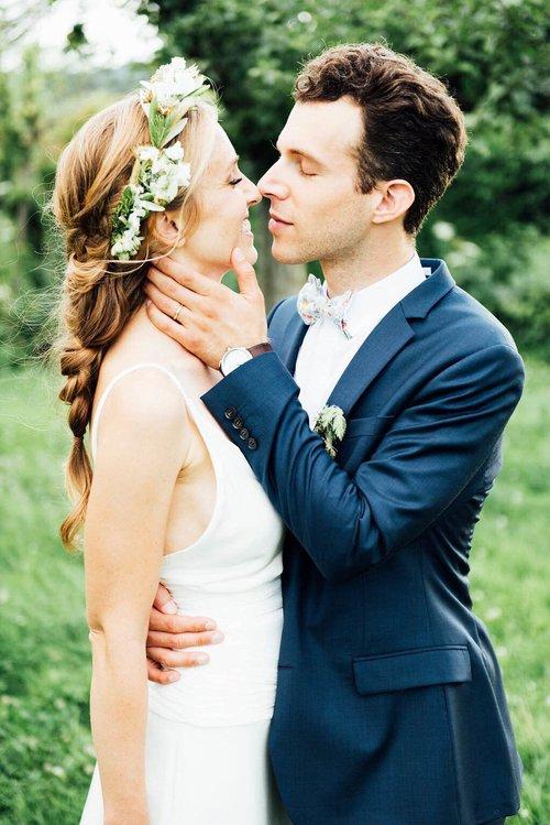 Coiffure mariage bohème tresse épi
