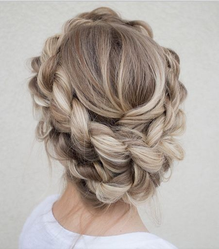 couronne de tresse, wedding hair