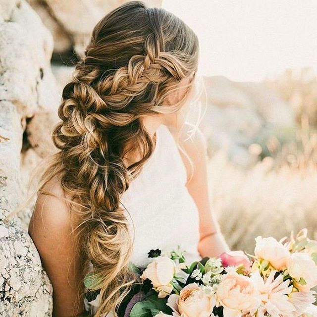 wedding hair, coiffure tresse