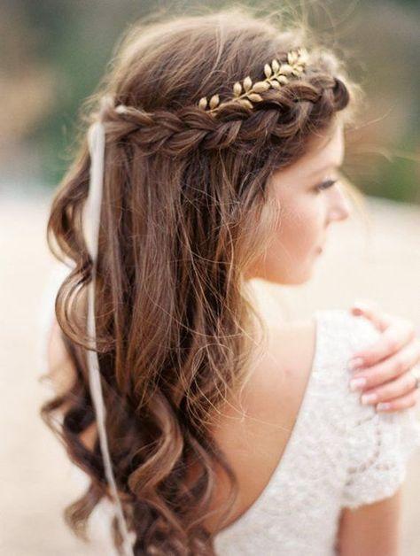 coiffure tresse, coiffure mariage