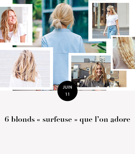 6 blonds surfeuse