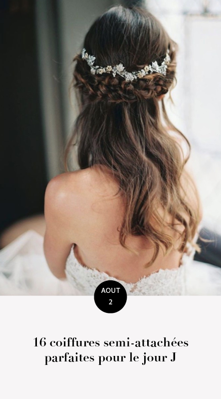 coiffures semi-attachées