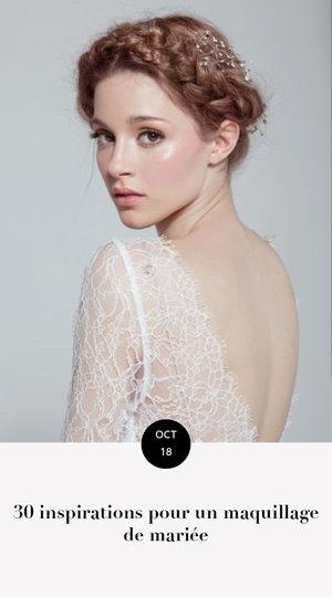 30 inspirations pour un maquillage de mariée