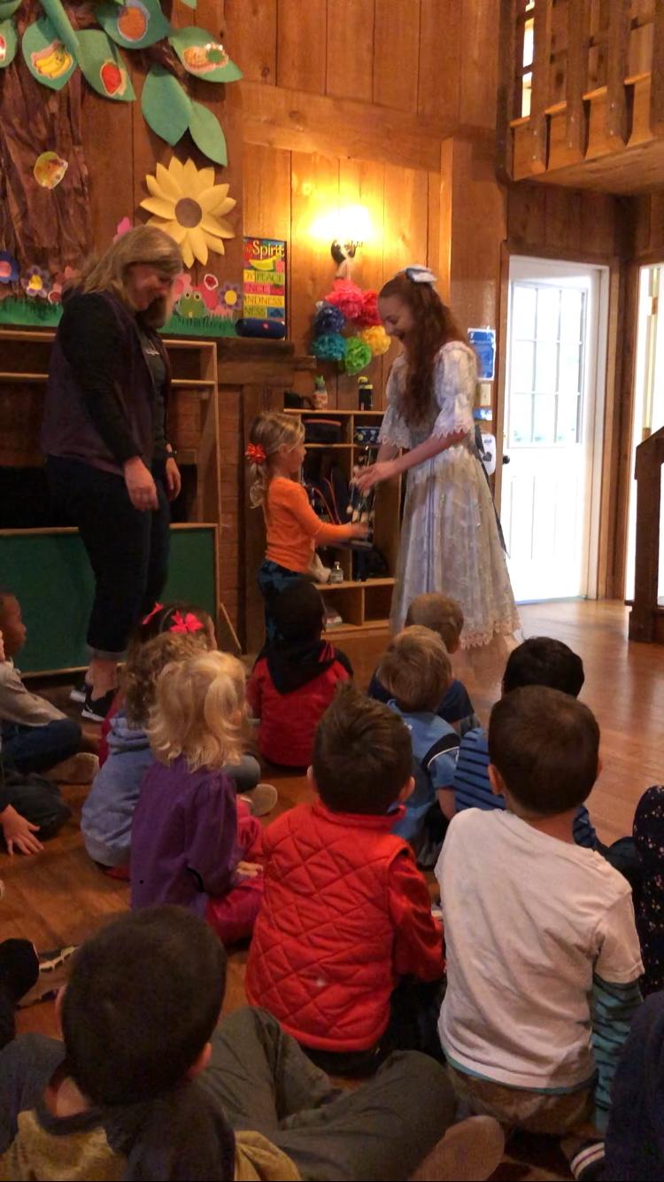 Nutcracker visit to Brace YMCA's preschool