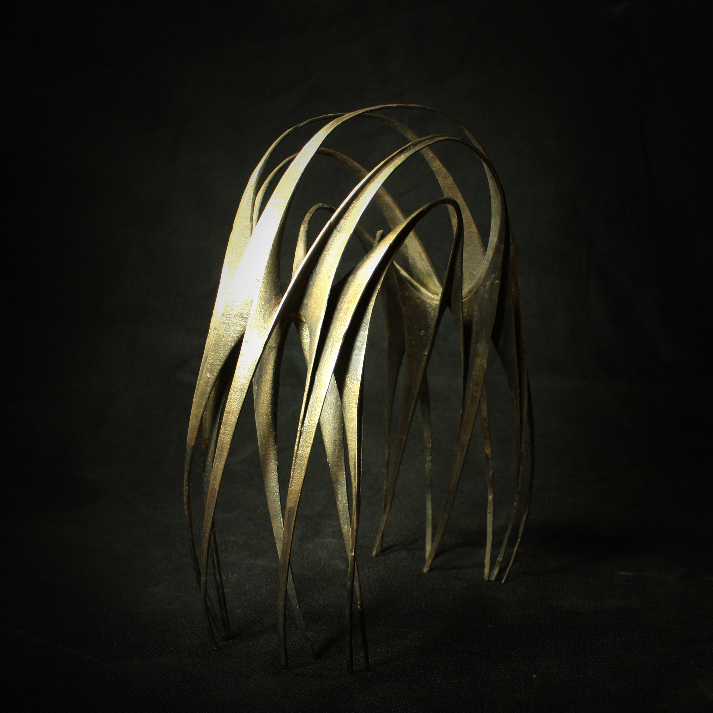 """The Arch, Bronze casted from 3D Printed Nylon, 12""""x4""""x4"""", 2012"""