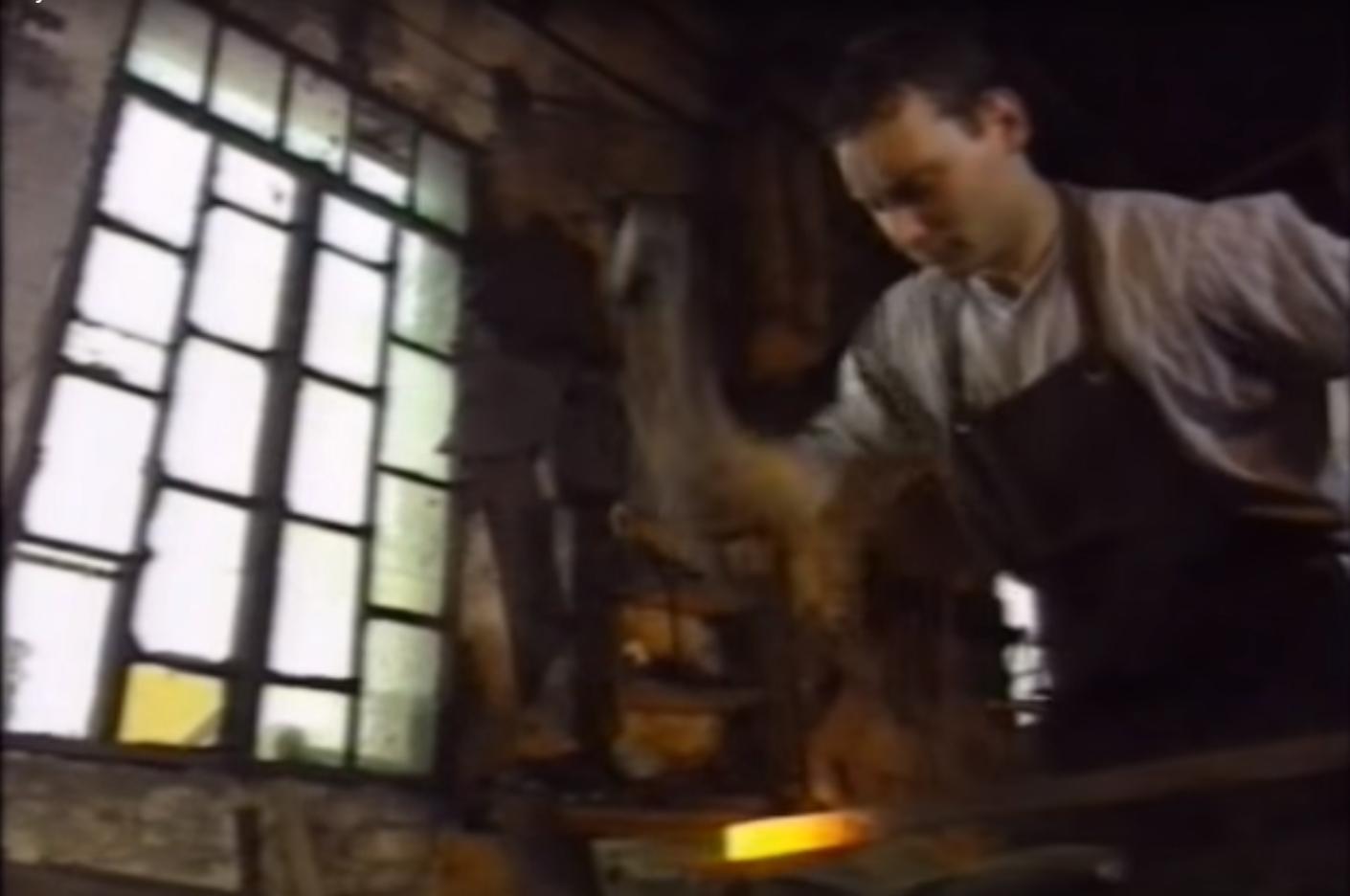 A young Davide Prete on Antonio Carraro's documentary