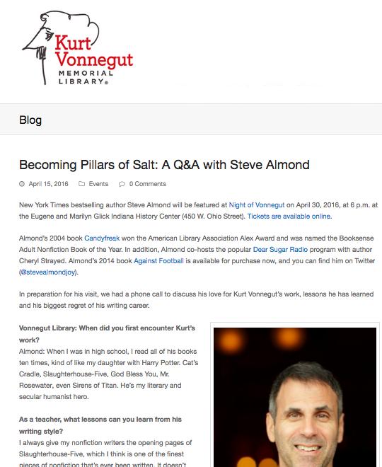 Interview for Kurt Vonnegut Memorial Library