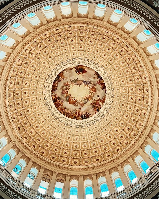Inside the dome. A unique look at the Capitol building from within. . . . . . #travel #TLPicks #LiveTravelChannel #tripstagram #traveltuesday #BBCTravel #travelbug #globetrotter #traveldeeper #trip #simplytrafalgar #wanderlust #peoplescreatives #dametraveler #fernweh #vacation #VSCOcam #viaje #dailyescape #natgeo #fodorsonthego #traveladdict #travelstoke  #budgettravel #architecture #skymileslife #whpgoingplaces