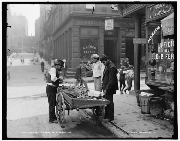 Oyster Cart Photo Courtesy of Detroit Publishing, Library of Congress, Circa 1900