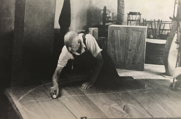 Wharton Esherick at work in his studio