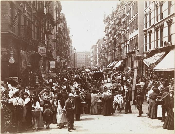 Street Vendors on Orchard Street 1898