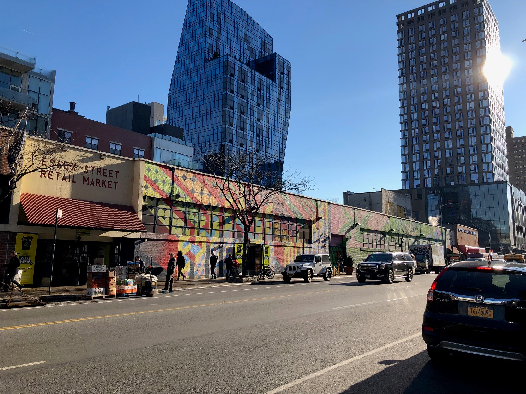 Essex Street Market Today with Essex Crossing in the background