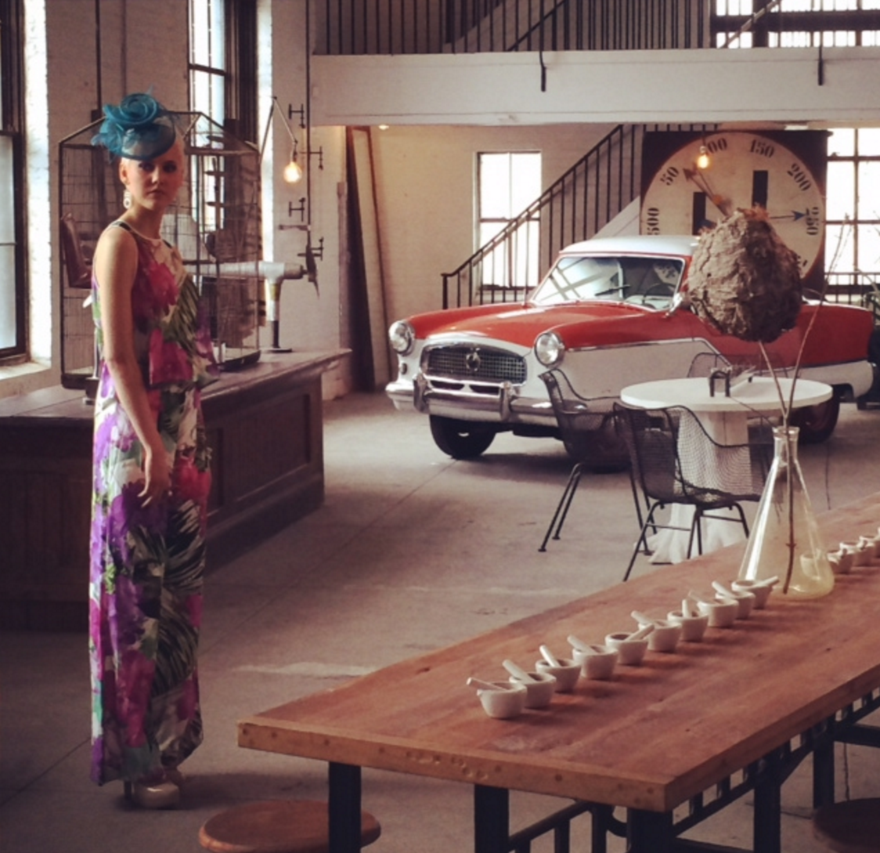 Spring fashion with our Cafeteria Table, Root Base Marble table,  and Nash Metropolitan.