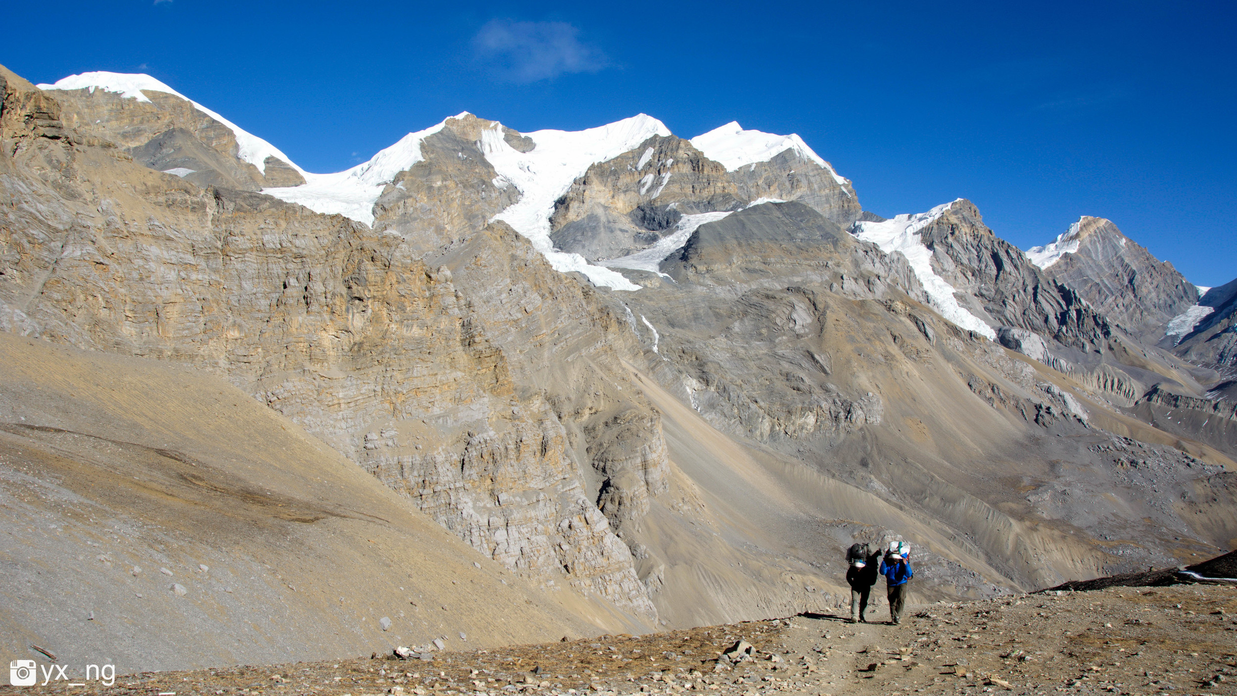 Heading up. Porters. Without them we will not be able to reach the summit or climb.