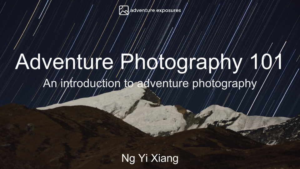 101 Notes on Adventure with Photography.