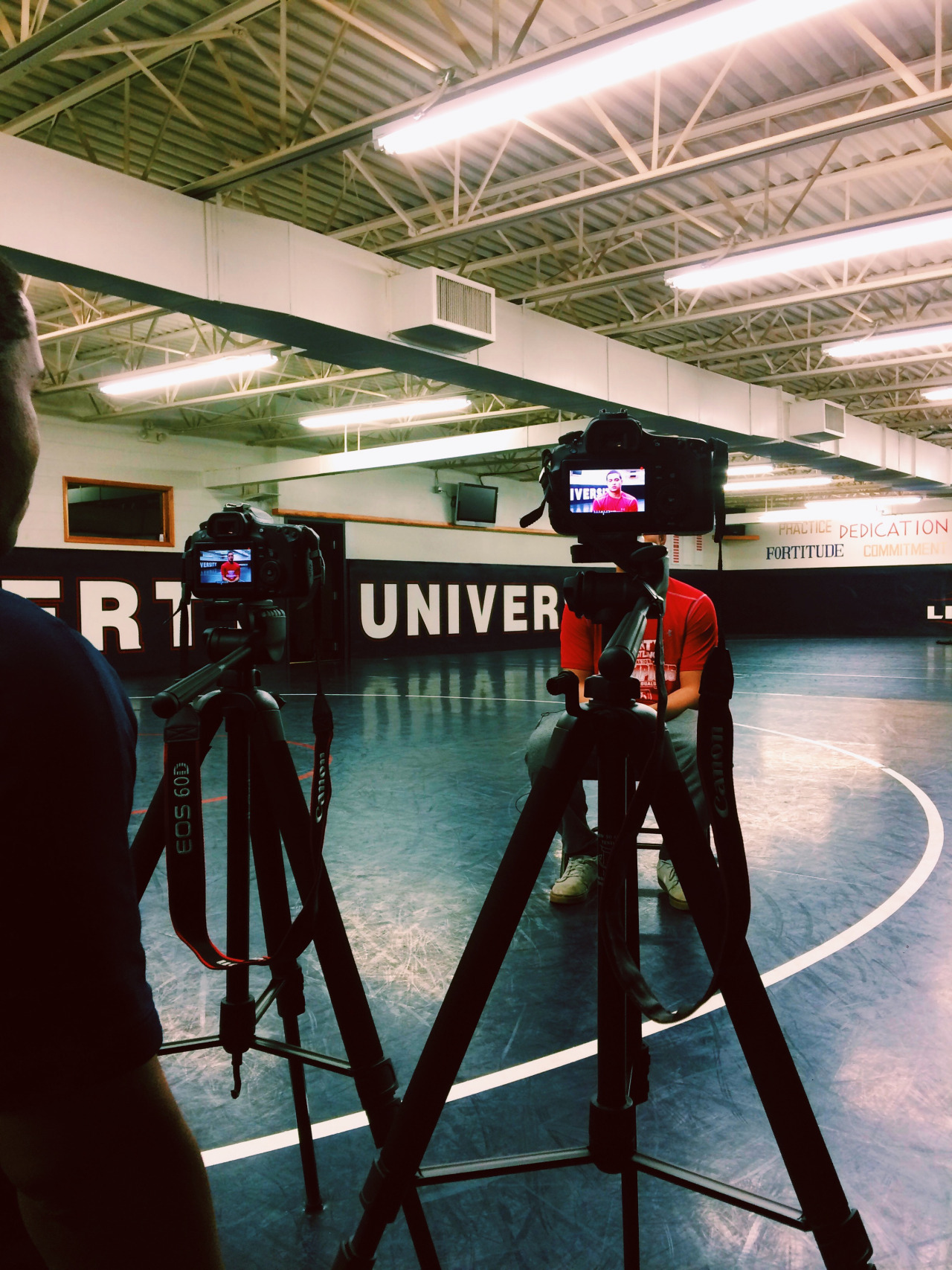 More interviews! This time, it's wrestling's turn in front of the camera. Always fun learning new things — a different sport from my usual, and continuing to get more familiar with video. After hearing the passion of these athletes and coaches, I'm super pumped to tell their story. (I also have decided that I would like all the flooring in my apartment to be squishy wrestling mat material, but that's, you know, a less pertinent/intellectual takeaway.)