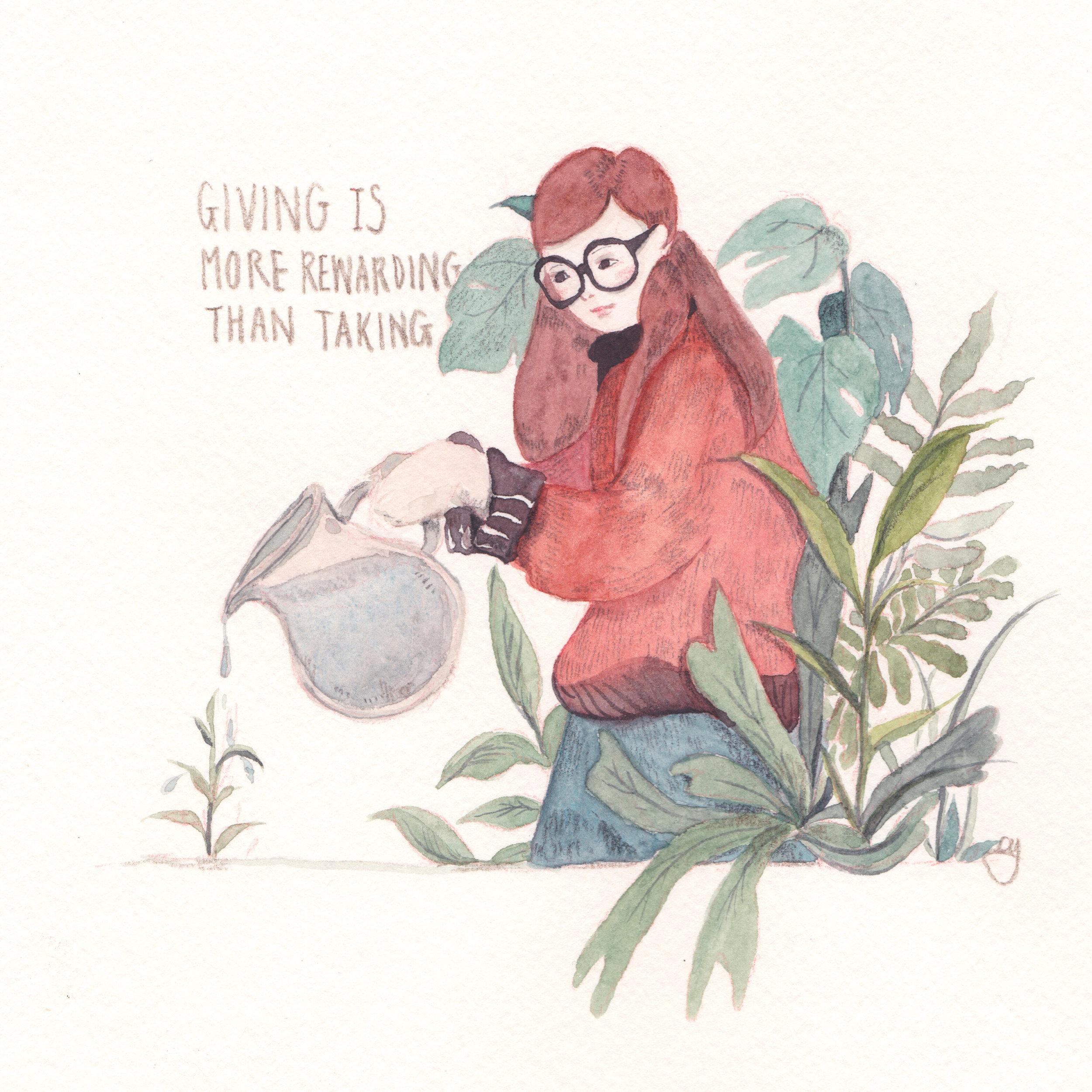 Giving is more rewarding than taking