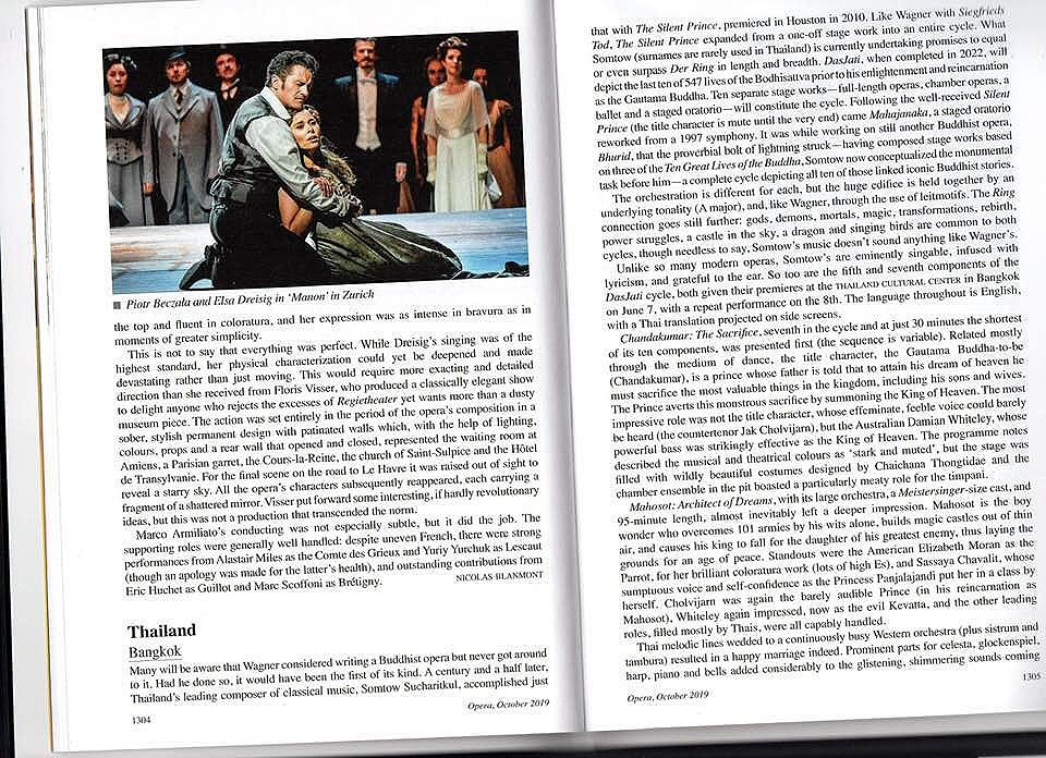 London's Opera Magazine Review - October 2019
