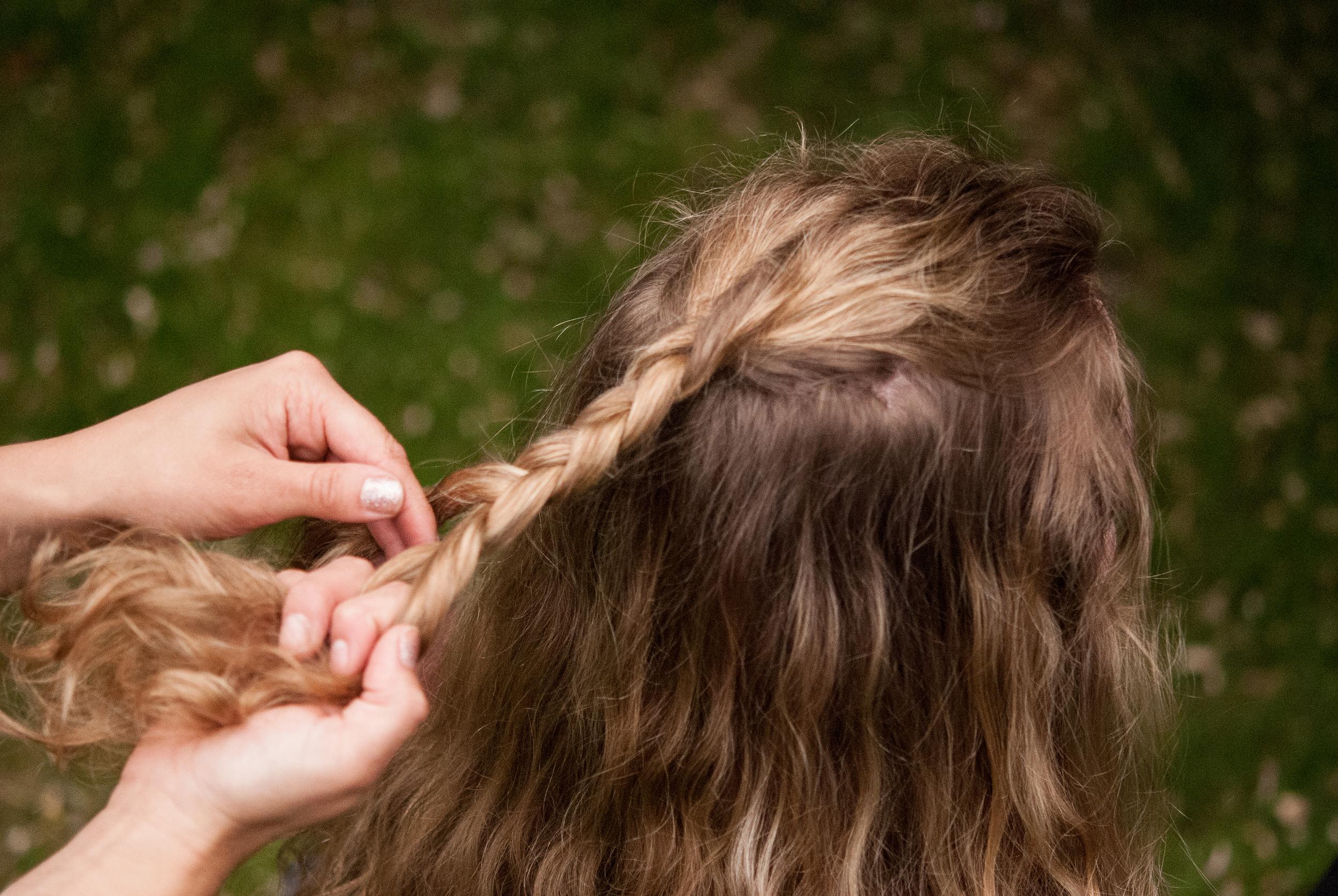 Braided Top Knot Half U  p Hair Tutorial