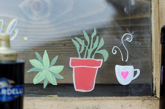 Chalk Paint Windows