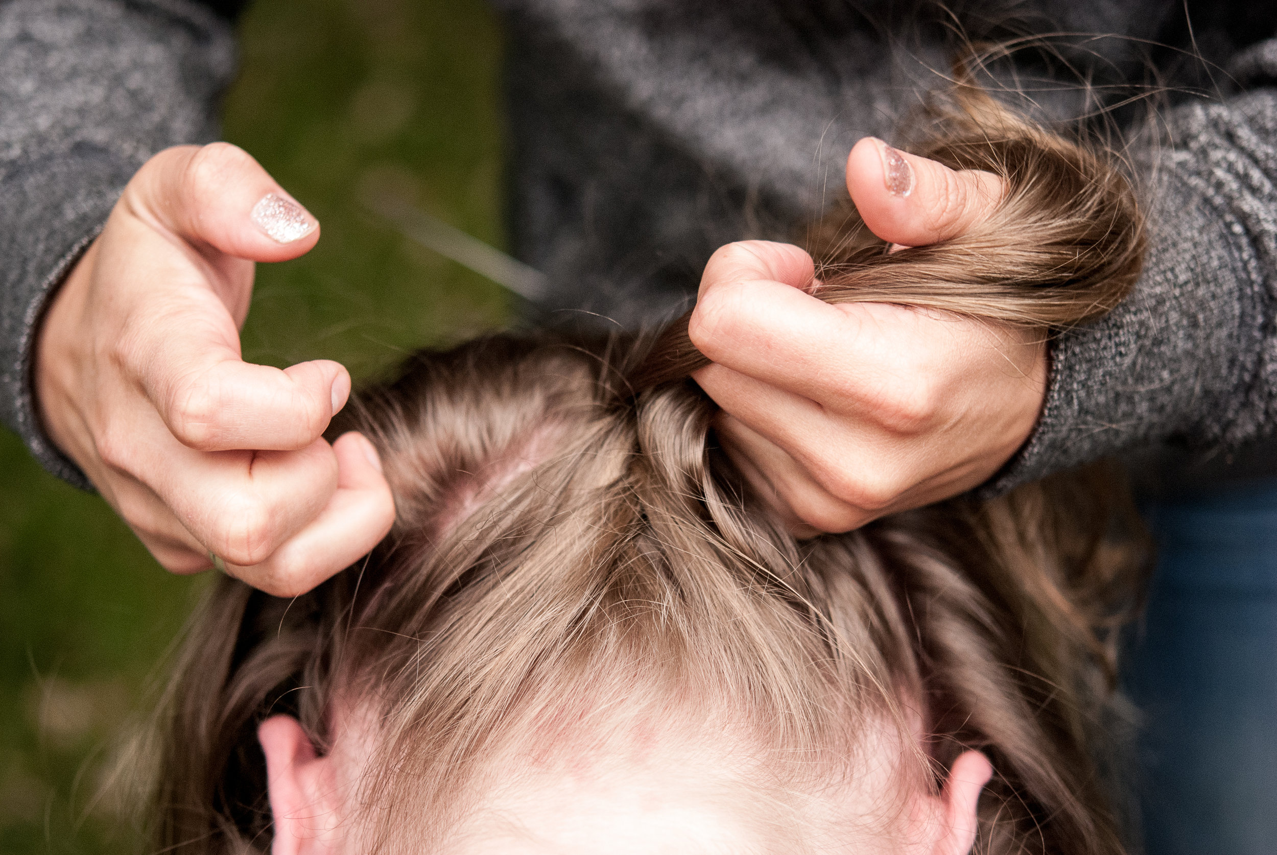Upside Down Braided Top Knot Hair Tutorial