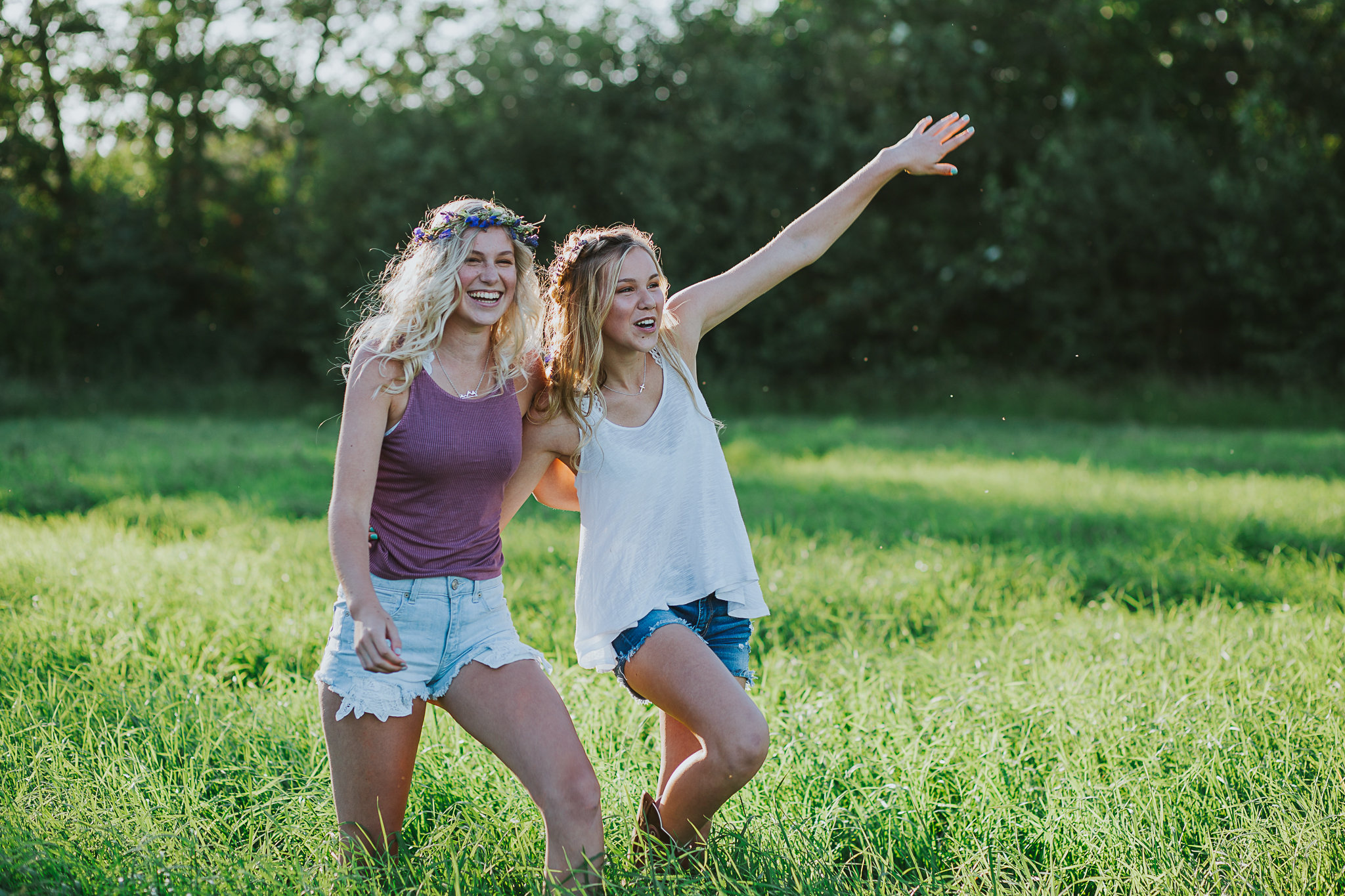 Country sisters growing up on a farm in the PNW.