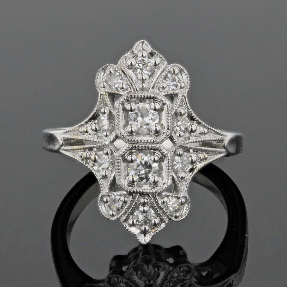 Elongated Custom Estate Ring