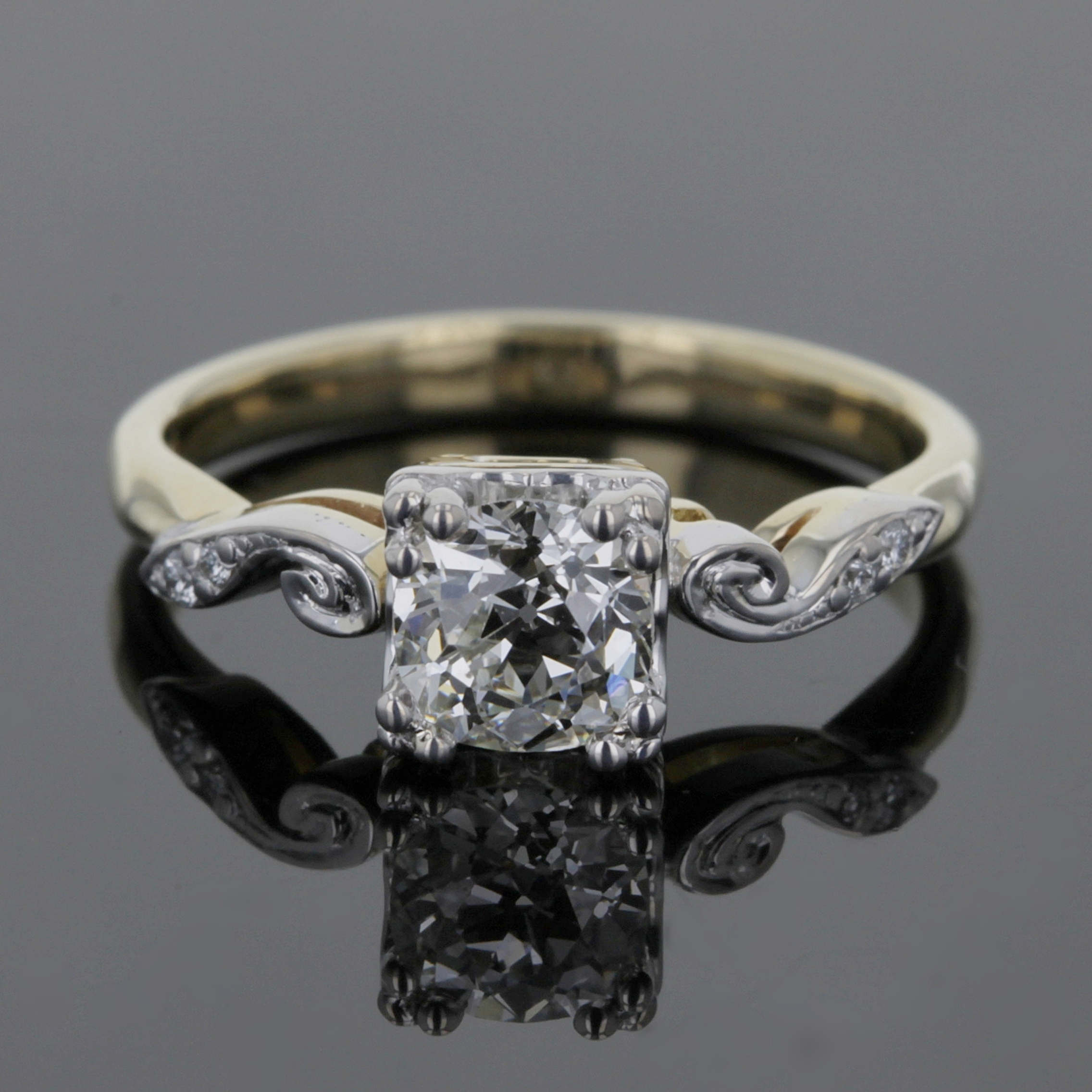 Custom vintage inspired solitaire