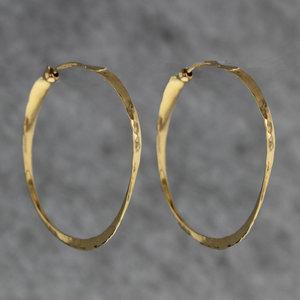 Hammered 14k Gold Hoop Earrings Kizer Mings Jewelers