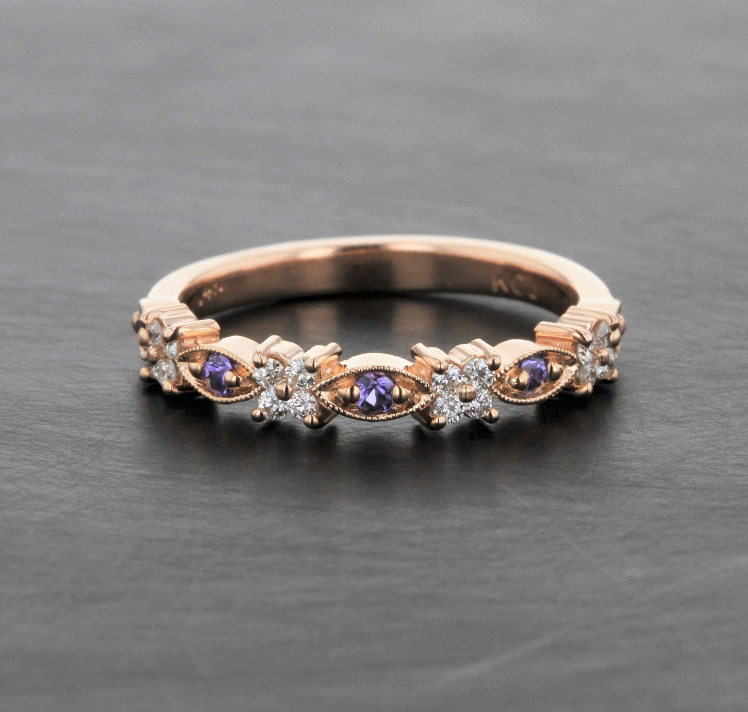 custom-purple-sapphire-diamond-floral-rose-gold-wedding-band.jpg