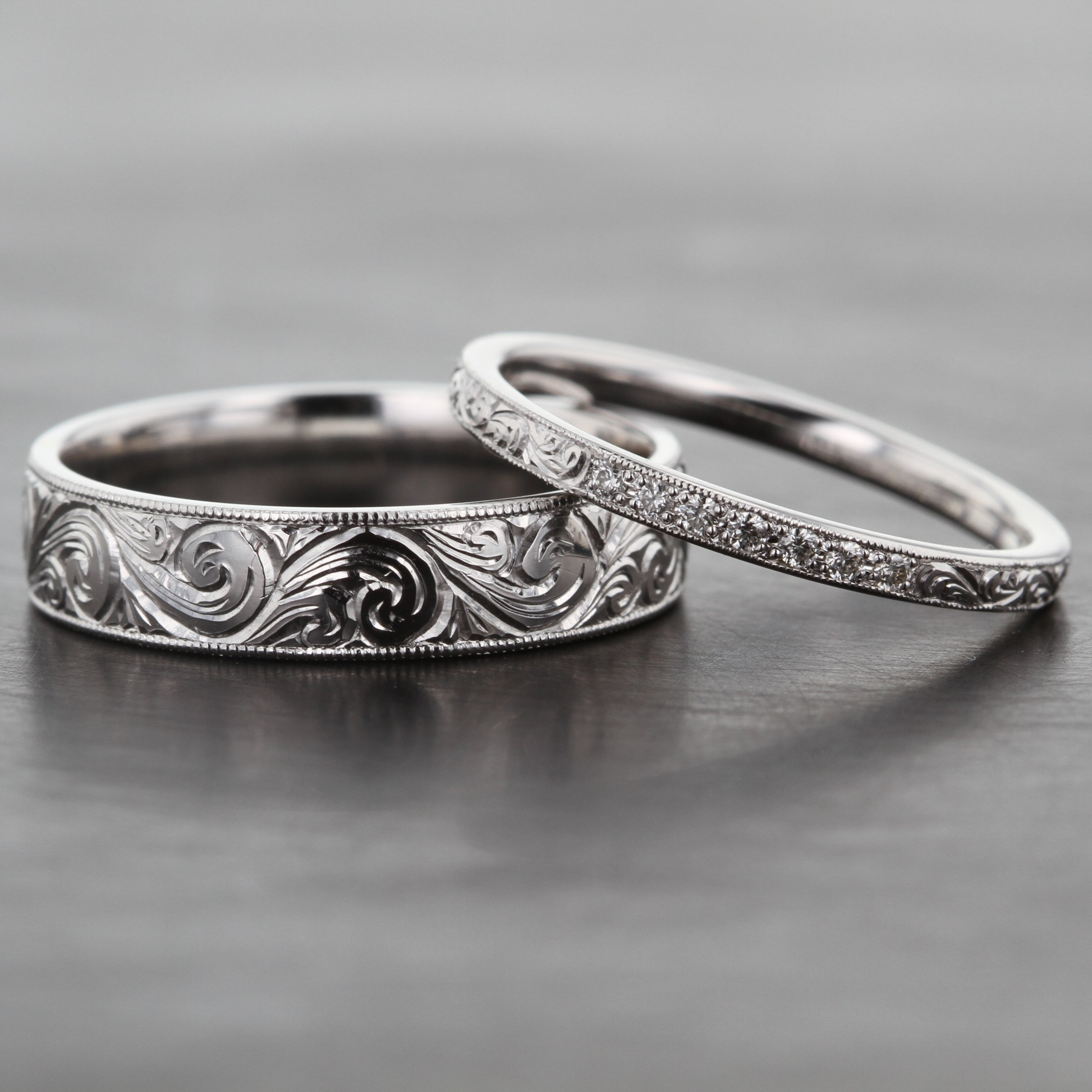 matching-custom-hand-engraved-wedding-band-ring-set.jpg