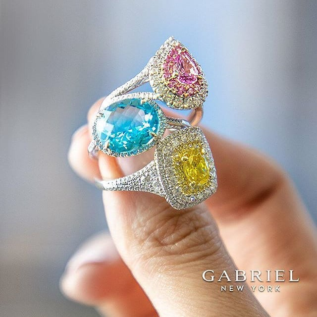 Color is a sensation on the eye as a result of the way an object reflects or emits light. What colored ring do you desire this Spring?