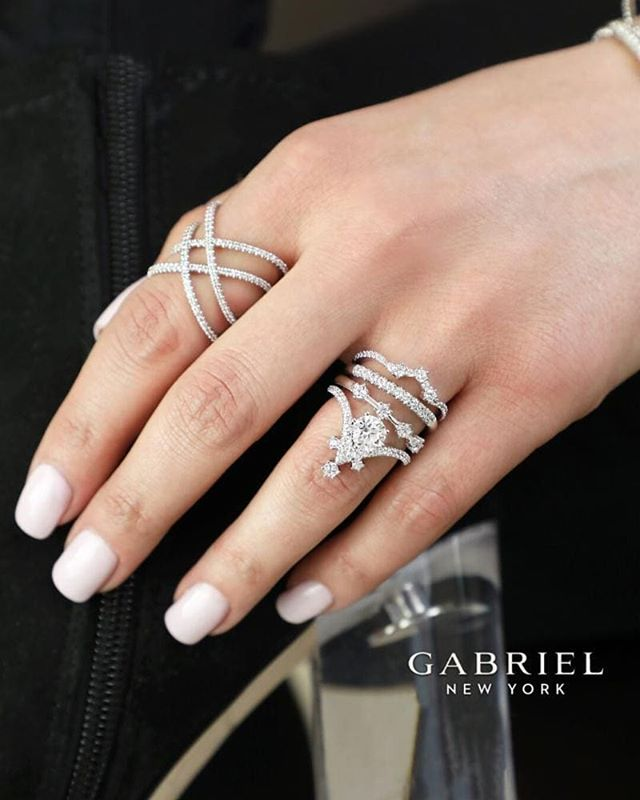 Get your glam on with rings that are more than just decorations, but symbolic to your declaration of love, personal style, endless commitment and unique creativity. @gabrielandco