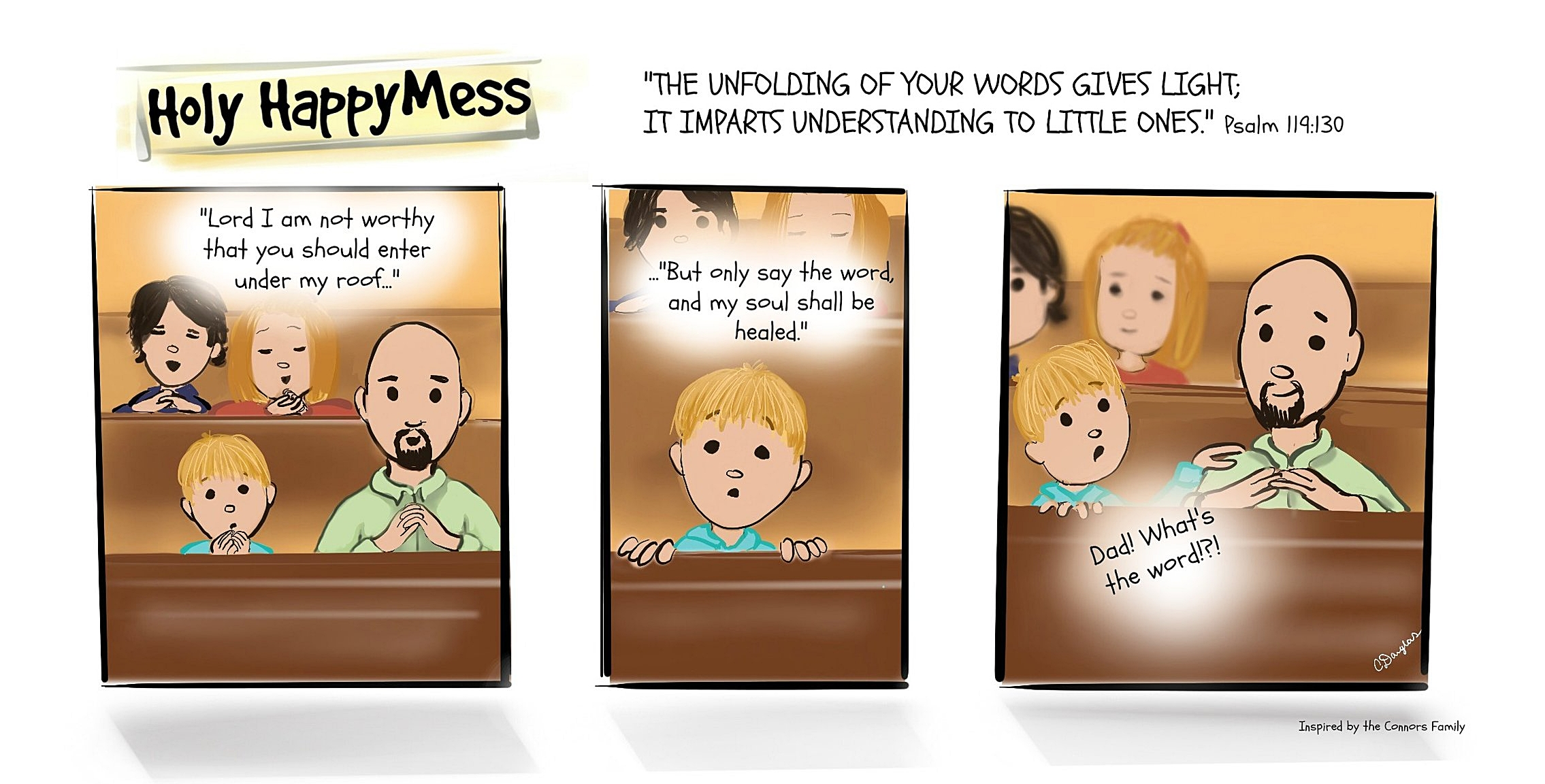 This comic was inspired by family friends. Let us know if you'd like to share your family moments with us too!
