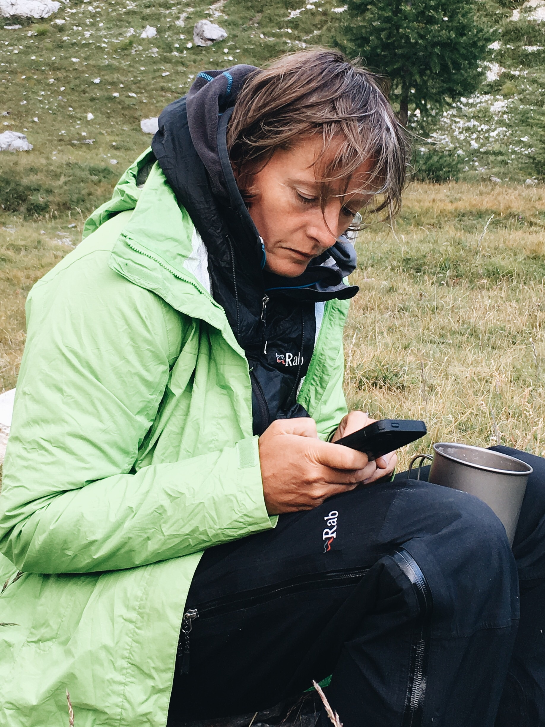 Old Lady Vlogger hard at work. Sponsored by RAB!