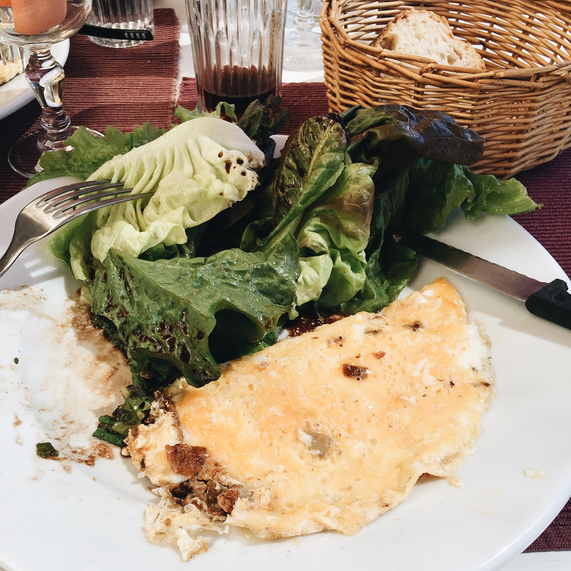 Half an omelette!
